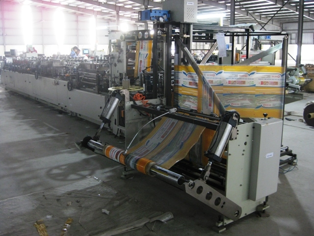 Three Side Seal, Stand-up Pouch, Single-Web Standing Pouch, Zipper Seal Bag Making Machine