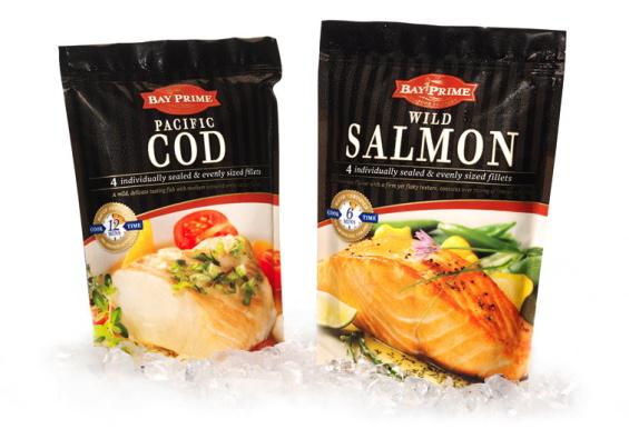 Frozen salmon bag